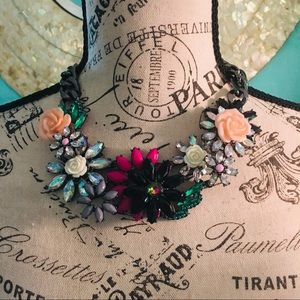 Joan Rivers Jeweled Blossoms Necklace